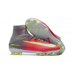 High Top Nike Mercurial Superfly 5 FG Soccer Cleats Pink Grey
