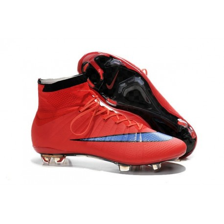 Men's Nike Mercurial Superfly IV FG Soccer Shoes Bright Crimson Persian Violet Black