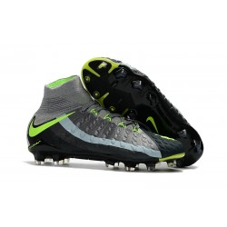 Nike Mens Hypervenom Phantom 3 Dynamic Fit FG Soccer Cleat Air Max Gray Black Green