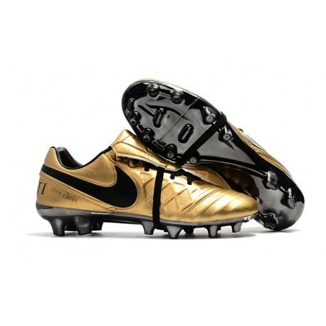 Nike Tiempo Totti X Roma Limited Edition Boots Gold Black