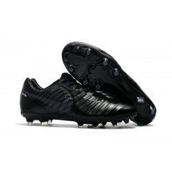 Nike Tiempo Legend 7 FG Leather Firm Ground Boots All Black