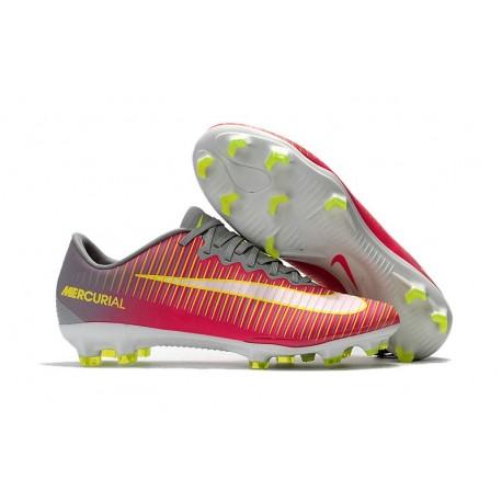 Nike Mercurial Vapor XI FG ACC 2017 Soccer Shoes - Pink Grey Yellow
