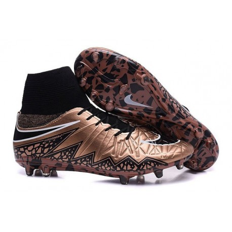 2016 Best Nike Hypervenom Phantom II Soccer Shoes Black Bronze