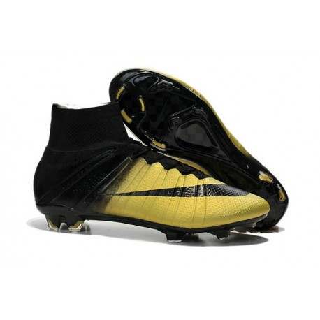 Men's Nike Mercurial Superfly IV FG Soccer Shoes CR7 Black Bronzy