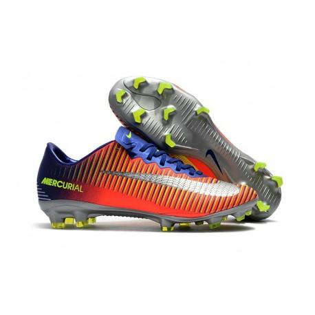 Nike Mercurial Vapor XI FG ACC 2017 Soccer Shoes - Deep Royal Blue Chrome Total Crimson