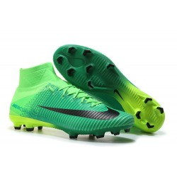 Nike Mercurial Superfly V FG 2017 New Football Boots Black Green