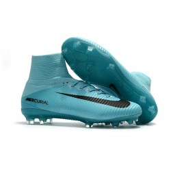 Nike Mercurial Superfly V FG 2017 New Football Boots Blue Black
