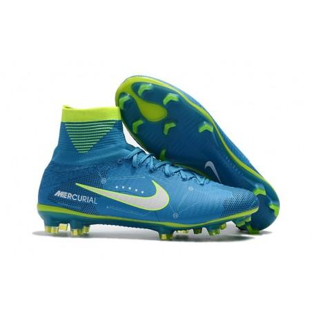 Nike Mercurial Superfly V FG 2017 New Football Boots NJR Blue White Volt