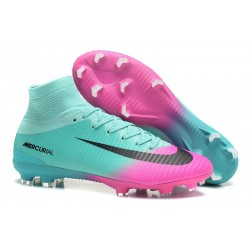 Nike Mercurial Superfly V FG 2017 New Football Boots Pink Blue Black