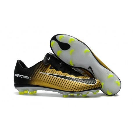 Nike Mercurial Vapor XI FG ACC 2017 Soccer Shoes - Gold Black White