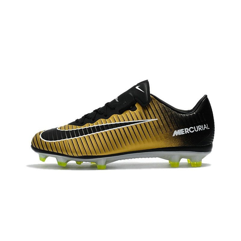 nike mercurial vapor xi fg acc 2017 soccer shoes gold black white. Black Bedroom Furniture Sets. Home Design Ideas