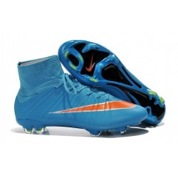 2016 Best Nike Mercurial Superfly IV FG Soccer Shoes Blue Red Black