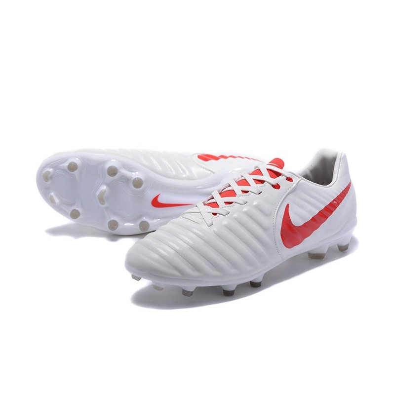 on sale 3fea2 562af Nike Tiempo Legend 7 FG Leather Firm Ground Boots White Red