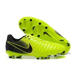 Nike Tiempo Legend 7 FG Leather Firm Ground Boots Volt Black