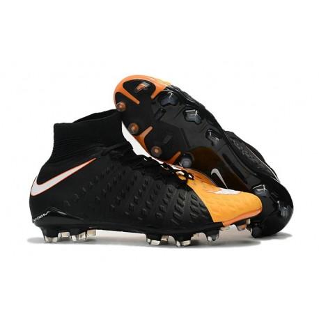 Nike Mens Hypervenom Phantom 3 Dynamic Fit FG Soccer Cleat Black White Laser Orange Volt