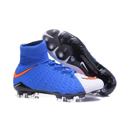 Nike Mens Hypervenom Phantom 3 Dynamic Fit FG Soccer Cleat Red White Blue