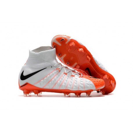 Nike Mens Hypervenom Phantom 3 Dynamic Fit FG Soccer Cleat White Orange Black