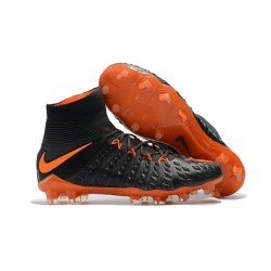 Nike Mens Hypervenom Phantom 3 Dynamic Fit FG Soccer Cleat Black Orange