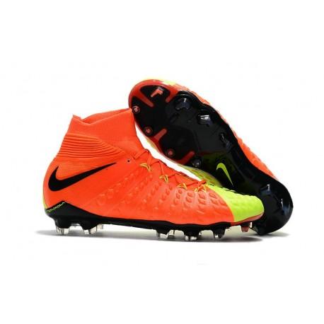 Nike Mens Hypervenom Phantom 3 Dynamic Fit FG Soccer Cleat Orange Volt Black