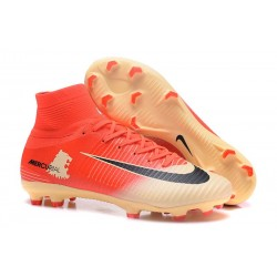 Nike Mercurial Superfly V FG 2017 New Football Boots Red Gold Black