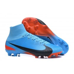 Nike Mercurial Superfly V FG 2017 New Football Boots Blue Red Black