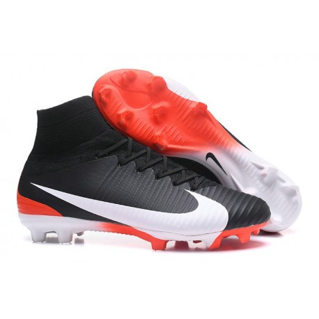 Nike Mercurial Superfly V FG 2017 New Football Boots Black White Red