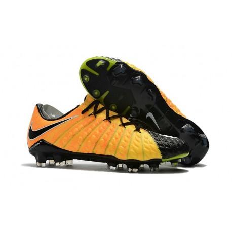2017 Nike Hypervenom Phantom III FG Soccer Shoes Yellow Black