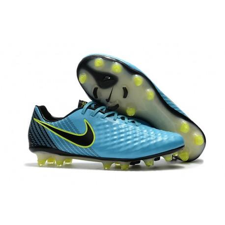 New Nike Magista Opus II Men's Firm-Ground Soccer Cleats Blue Volt Black