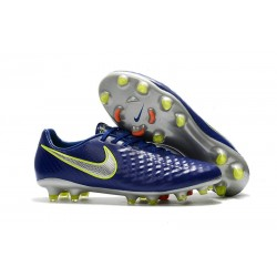 New Nike Magista Opus II FG Football Boots - Low Price - Blue Volt Silver