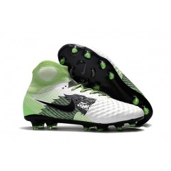 Nike Magista Obra 2 FG Firm Ground Football Boots White Green Black