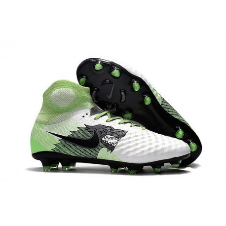 Nike Magista Obra 2 FG Firm Ground Football Boots White Green Black