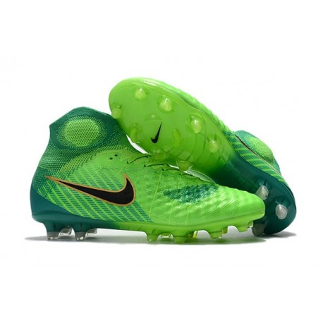 Nike Magista Obra 2 FG Firm Ground Football Boots Green Black