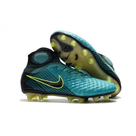 Nike Magista Obra 2 FG Firm Ground Football Boots Blue Volt Black