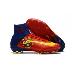 Nike Mercurial Superfly V FG 2017 New Football Boots Barcelona FC Blue Red Yellow
