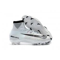Nike Mercurial Superfly V FG 2017 New Football Boots Ronaldo White Blue Tint