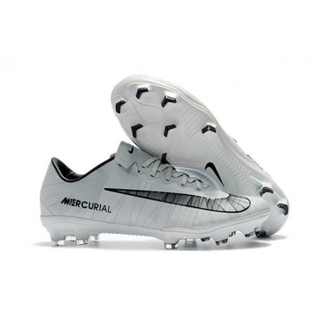 Nike Mercurial Vapor XI FG ACC 2017 Soccer Shoes - CR7 Grey Black White