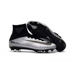 Nike Mercurial Superfly V FG 2017 New Football Boots Silver Black