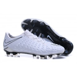 Nike Hypervenom Phantom 3 FG Football Shoes for Men White Black