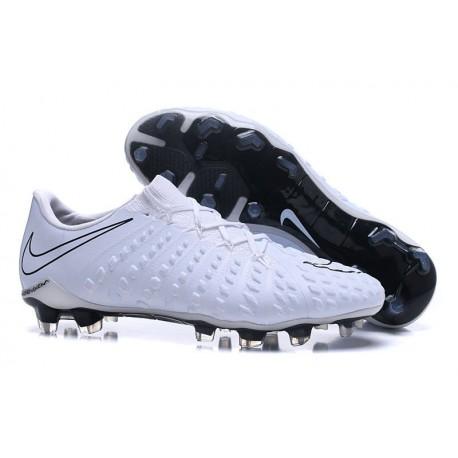 Nike Hypervenom Phantom 3 FG Football Shoes for Men White Black