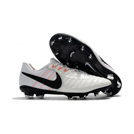 Nike Tiempo Legend 7 FG Leather Firm Ground Boots White Black