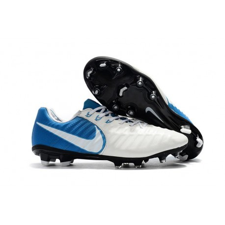 New Nike Tiempo Legend 7 FG FG Soccer Shoes White Blue