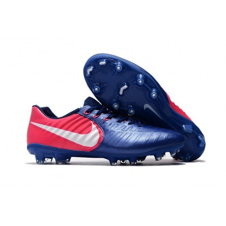 New Nike Tiempo Legend 7 FG FG Soccer Shoes Blue Pink