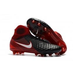 Nike Magista Obra 2 FG Firm Ground Football Boots Black White Black White Red