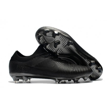 Soccer Shoes For Men - Nike Mercurial Vapor Flyknit Ultra FG All Black