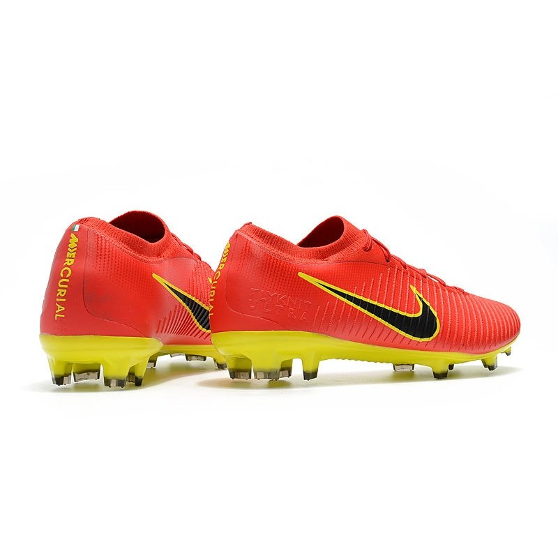 8dc4eef586d3 new nike soccer shoes mercurial vapor flyknit ultra fg red yellow black  maximize. previous.
