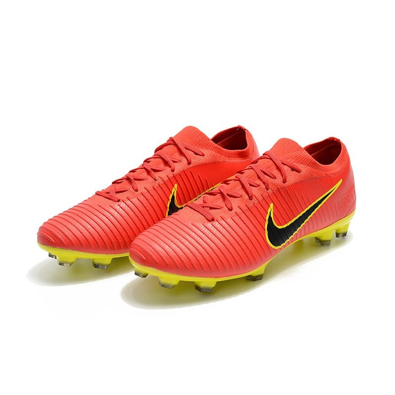 36a0c7a225f3 New Nike Soccer Shoes - Mercurial Vapor Flyknit Ultra FG Red Yellow Black  Maximize. Previous. Next
