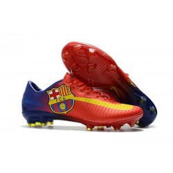 Nike Mercurial Vapor XI FG ACC 2017 Soccer Shoes - Barcelona Red Blue Yellow
