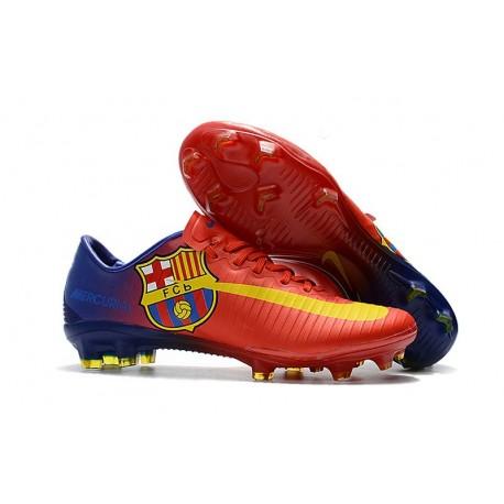 Nike Mercurial Vapor XI FG ACC 2017 Soccer Shoes - Barcelona Red Blue Yellow