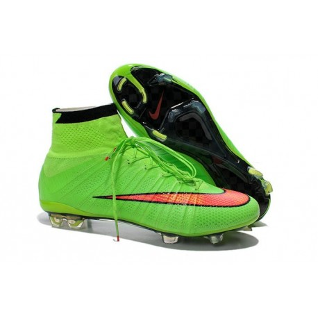 2016 Nike Mercurial Superfly IV FG Soccer Cleats Black Green Hyper Punch