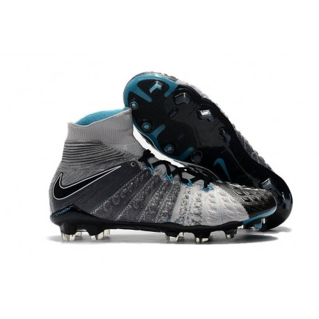 Nike Hypervenom Phantom 3 FG Football Shoes for Men Grey Black Blue